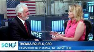 SCN's Jane King Interviews CEO Thomas Equels of Hemispherx BioPharma Inc. (NYSE: HEB)