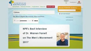 Warren Farrell: The Men's Movement 2017